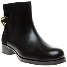 New Womens Sam Edelman Black Chester Leather Boots Ankle Zip