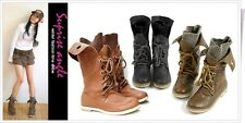 Trendy Womens Lace -Up Buckle Strap Ankle fashionable Boots Shoes US 4.5-10.5