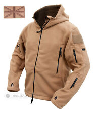 TACTICAL RECON HOODIE MILITARY FLEECE COYOTE BEIGE SPECIAL FORCES JACKET BROWN