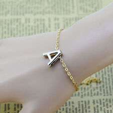 Pretty Women Fashion Gold plated Letter name Initial chain Bracelets bangle Gift