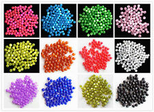 100-500pcs Mixed Color 6mm Resin cat's eye Round Beads SL-24