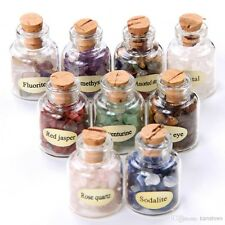 MINI GEMSTONE BOTTLES Chip Sz Crystal Tumbled Gem Stones