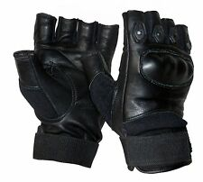 Tactical Fingerless Hard Knuckle Paintball Airsoft Combat Gloves