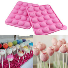 Cake Cookie Chocolate Silicone Lollipop Pop Mold Mould Baking CakeTray Party