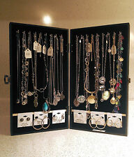 Portable Jewelry Display Cases for Necklaces, Earrings, Rings, Travel Showcases