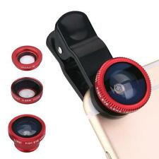 Fisheye Macro Wide Angle 3 in 1 Clip Lens Mobile Phone Lens for iPhone Samsung