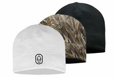 Hard Core Brands HC Skull Cap Fleece Beanie in Realtree Max-5 Camo, White, Black