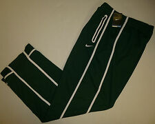 NIKE BB10 Men's Warm-Up Pants GREEN with White Stripe NIKE SWOOSH on Left Leg