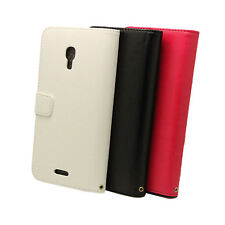 Side Open Leather Case Flip Cover + Film For Huawei Ascend Mate 2 II 4G MT2 U071