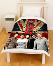 New [1D] Keep Calm And Love [One Direction] Union Jack Flag Fleece Throw Blanket