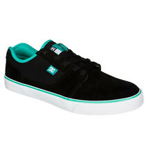 DC - TONIK S Mens Skate Shoes (NEW w/ FREE SHIPPING) Super Suede BLACK TURQUOISE