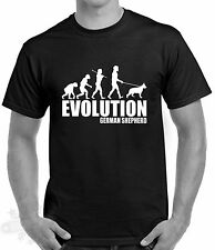 Slogan,humour,evolution men,german shepherd dog breed dog,t shirt,s-3xl