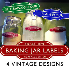 Vintage British Railways BAKING PANTRY JAR LABELS Self-Adhesive