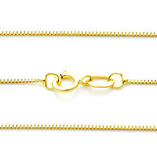 """0.55 MM 14k Solid Yellow Gold Thick Box Chain All Sizes 13"""" 15"""" 16"""" 18"""" 20"""" 22"""""""