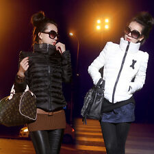 Femme manteaux Lady Turtle neck Down Coats Wadded Cotton-padded Jackets