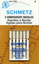 Schmetz 1720 Embroidery Sewing Machine Needles 130/705H-E 15x1 Size 90/14