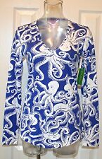 "Lilly Pulitzer Arielle Top, ""Bubbly"", Iris Blue, Small, NWT"