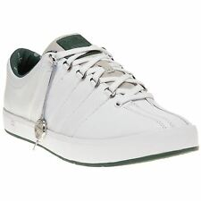 New Mens K-Swiss White The Classic II Leather Trainers Tennis Style Lace Up