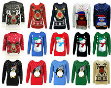 CHILDRENS KIDS BOYS GIRLS JUMPER NOVELTY CHRISTMAS XMAS KNITTED RETRO 5-12 YEARS