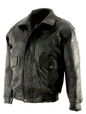 New Mens Black Genuine Leather Bomber Jacket Coat Biker Motorcycle SIZE 3X 4X 5X