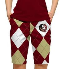 2013 LoudMouth Ladies Golf Shorts Brand New Team Florida State Seminoles LM2329