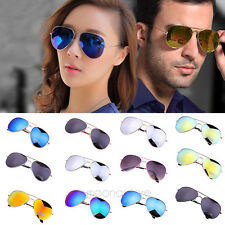 Vintage Fashion Unisex Women Men Aviator Mirror Lens Retro Sunglasses Glasses