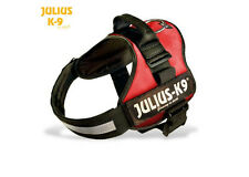 Julius K9 Original Dog Power Harness w Safety Lead & Easy Clip, Many Sizes - Red