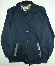 Mens Navy with Green Camouflage detail Shower Jacket