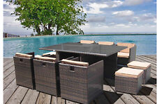 Cube Rattan Dining Set Garden Furniture Patio Conservatory Wicker Outdoor Luxury