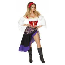 Gypsy Costume Adult Sexy Fortune Teller Halloween Fancy Dress