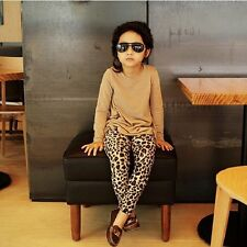 FashionElastic Tight Casual Long Pants Trousers Leopard Kids Baby Girl Leggings