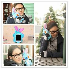 Cute 3D Funny Cartoon Dog Plush Toy Doll Case Cover For Nokia Lenovo Cell Phones