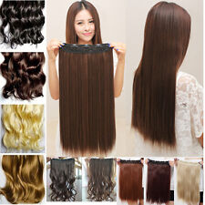 clearance17/23 clips in hair extension 3/4 Full Head 12 colors straight curl wm