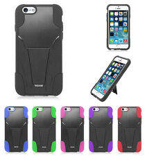 HYBRID SILICONE SKIN + HARD KICKSTAND CASE for APPLE IPHONE 6 model cell phones
