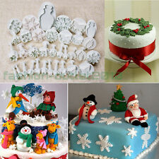 Various Sugarcraft Cake Decorating Fondant Icing Plunger Cutter Tool Mold Xmas #