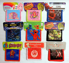 Childrens Wallets/Great Gifts Elmo,Spiderman,Shrek,ScoobyDoo& More Free Shipping