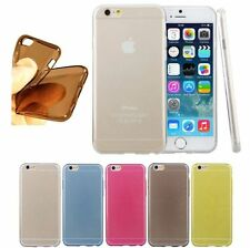 iPhone 6 4,7 TPU Bumper Silikon Schutz Hülle Case Cover Tasche transparent Folie