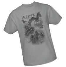 Hobbit: An Unexpected Journey - Three Sketch Mural -- Adult T-Shirt