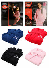 Mens Womens Dressing Gown Deluxe Soft Fleece Robe *Multiple Colours Available*