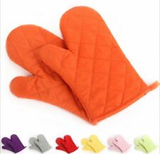2 NEW Cotton Oven Mitt Glove Heat Resistant protector kitchen cooking Pot Holder