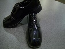 Mens Dress shoes -  faux patent leather square toe oxford - Nuvo styling