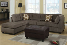 """2 Pieces Sectional Sofa Set Couch Microfiber Left / Right Chaise 84x112"""""""
