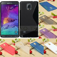 ※S Line※Soft TPU Gel Silicone Case Cover Skin For Samsung Galaxy Note 4 IV N9100