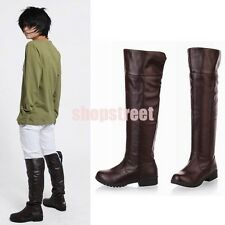 Cosplay Anime Attack on Titan Shingeki no Kyojin Eren Jaeger UnisexShoes Boots