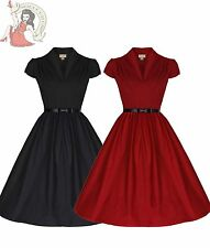 LINDY BOP 50's MEGAN plain rockabilly DRESS