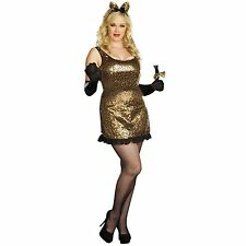 PLUS SIZE DREAMGIRL SEXY CAT WALK KITTY SEQUIN COUGAR COSTUME 1X/2X OR 3X/4X NEW