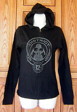 The Hunger Games District 12 Black Zip Katniss Hoodie NEW Licensed
