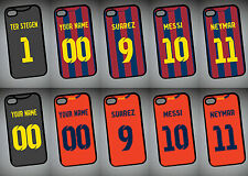 Personalised BARCELONA 14/15 KIT theme IPHONE 6 REAR COVER CASE shirt style gift