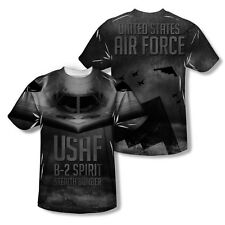 U.S. AIR FORCE B-2 SPIRIT STEALTH BOMBER All-Over Front/Back Print Adult T-Shirt