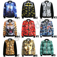 Men Women Coat Galaxy Batmen Jellyfish Bomber Jacket Punk 3D Printed Coat Punk
